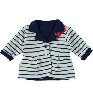 Giacchina reversibile in jersey stretch 100% cotone minibanda NAVY-3547