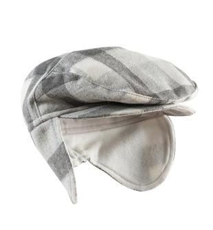 Elegante cappellino modello coppola in twill e foderato in pile minibanda GRIGIO MELANGE-8991