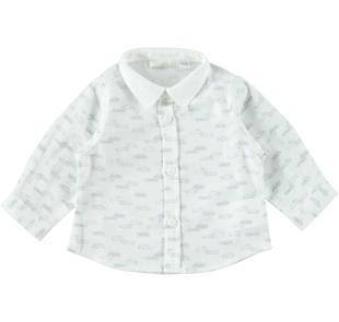 Camicia manica lunga con fantasia macchinine minibanda PANNA-GRIGIO-6Z57