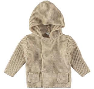 Particolare cardigan per neonato modello doppio petto minibanda BEIGE-0411