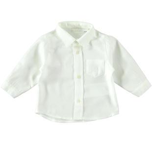Camicia classica a manica lunga con taschino minibanda PANNA-0112