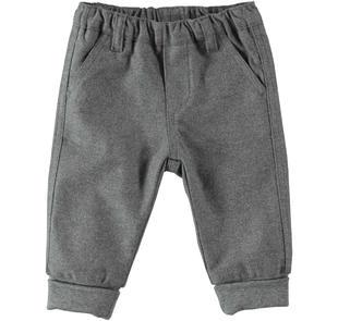 Pantalone in morbido cotone al 100% minibanda GRIGIO MELANGE-8993