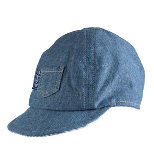 Cappellino per neonato in chambray 100% cotone minibanda STONE WASHED-7450