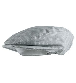 Cappello modello coppola in tessuto operato per neonato minibanda GRIGIO-0518