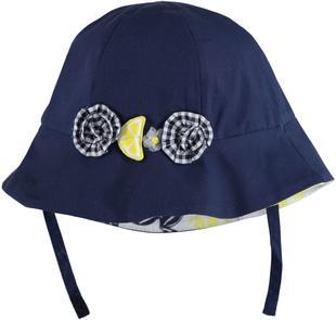 Allegro cappellino 100% cotone per neonata minibanda NAVY-3854