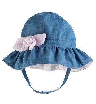 Cappellino in denim leggero con tesa minibanda STONE BLEACH-7350