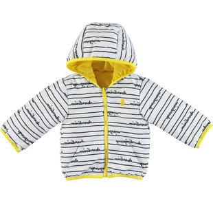 Giubbotto reversibile con cappuccio per neonato minibanda GIALLO-1444