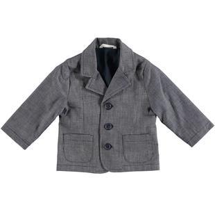 Elegante giacca neonato con fantasia puntini minibanda NAVY-3854