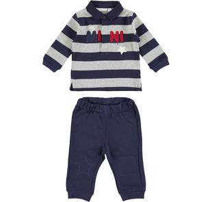 Grazioso completo polo e pantalone minibanda NAVY-3854