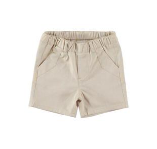 Elegante pantalone corto estivo per neonato in cotone minibanda BEIGE-0436
