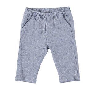 Elegante pantalone neonato modello chino in cotone tessuto rigato minibanda AVION-3654