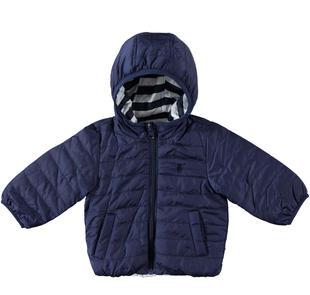 Giubbotto neonato reversibile con cappuccio minibanda NAVY-3854