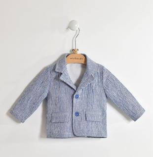 Giacca cerimonia per neonato in cotone tessuto rigato minibanda AVION-3654