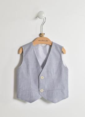 Elegante gilet cerimonia per neonato in cotone minibanda ROYAL SCURO-3755