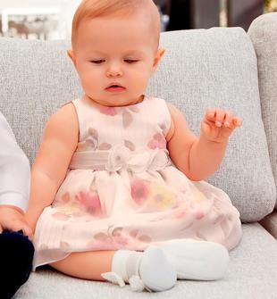 Elegante vestitino neonata con motivo floreale minibanda PANNA-MULTICOLOR-6FL5