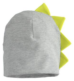 Simpatico cappello modello cuffia con cresta ido GRIGIO MELANGE-8970