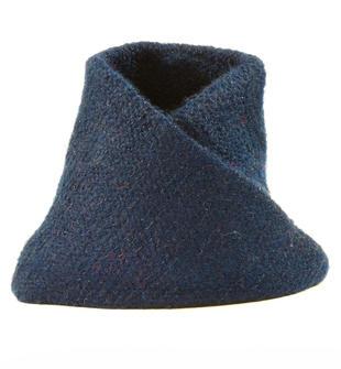 Graziosa e comoda sciarpa ad anello con lurex ido NAVY-3854