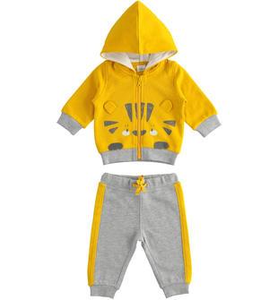 Tuta jogging neonato in felpa invernale di cotone ido GIALLO-1615