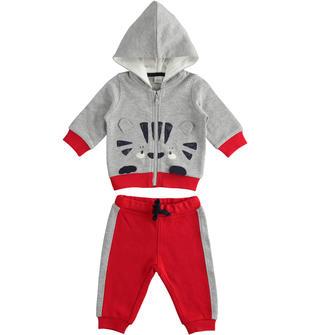 Tuta jogging neonato in felpa invernale di cotone ido GRIGIO MELANGE-8992