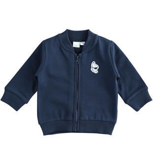 Felpa iDO garzata internamente con zip per neonato ido NAVY-3885