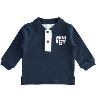 Polo in interlock autunnale per neonato ido NAVY-3885