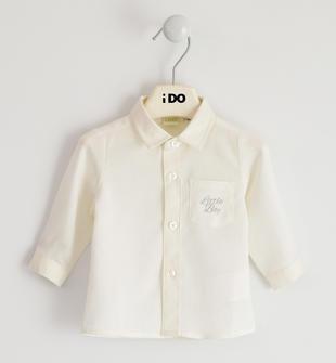 Camicia classica per neonato 100% cotone ido PANNA-0112