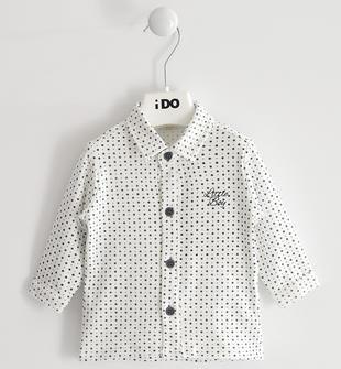 Camicia neonato in cotone stretch stampato all over ido PANNA-BLU-6NH9