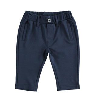 Pantalone neonato in morbida maglia punto milano color blu navy ido NAVY-3885