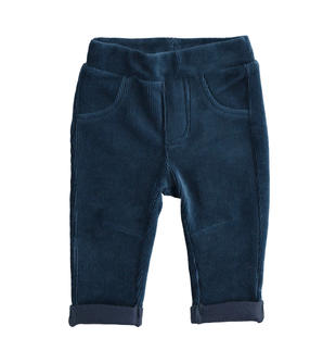 Pantalone per neonato in velluto effetto ciniglia ido NAVY-3885