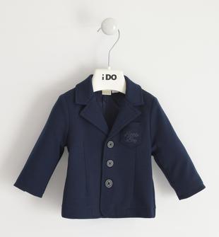 Elegante blazer neonato in morbido tessuto di maglia ido NAVY-3885