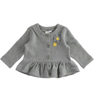 Graziosa giacchina in maglia per neonata ido GRIGIO MELANGE-8993