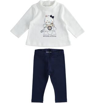 Completo per neonata lupetto con pulcino e leggings ido PANNA-0112