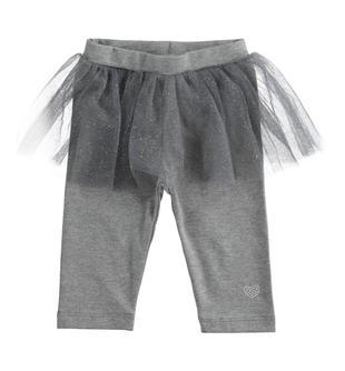 Pantalone in jersey invernale con tulle per neonata ido GRIGIO MELANGE-8993