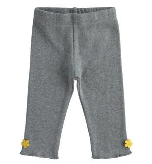 Pantalone in maglia effetto tricot per neonata ido GRIGIO-GRIGIO-8021