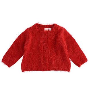Grazioso cardigan per neonata in tricot lurex ido ROSSO-2253