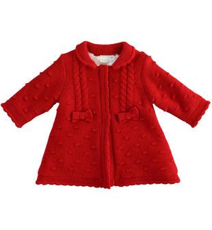 Cardigan in tricot per neonata ido ROSSO-2253