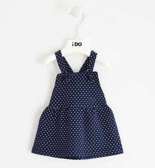 Gonna salopette fantasia cuori per neonata ido NAVY-ECRU'-6NG5