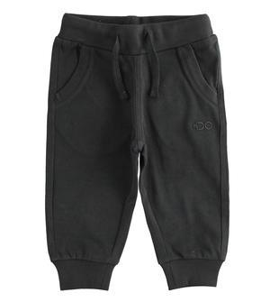 Pratico pantalone in jersey pesante ido NERO-0658