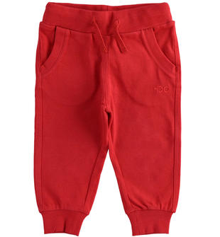 Pratico pantalone in jersey pesante ido ROSSO-2253