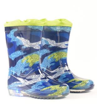 Stivali per la pioggia fantasia camouflage con luci ido PANNA-MULTICOLOR-6PP2