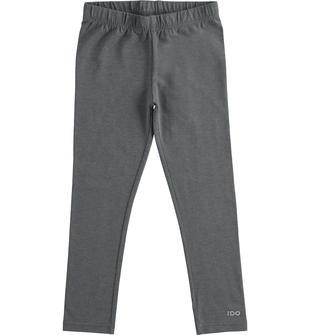 Leggings in jersey stretch garzato ido GRIGIO MELANGE SCURO-8994