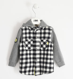 Calda camicia con cappuccio per bambino ido PANNA-0112