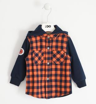 Calda camicia con cappuccio per bambino ido ARANCIO-2213
