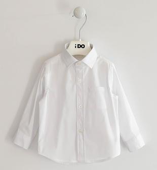 Camicia a manica lunga per bambino in popeline ido BIANCO-0113
