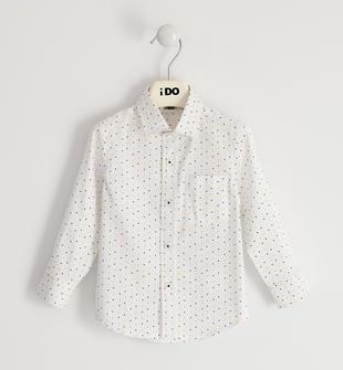 Camicia classica con pochette ido BIANCO-BLU-6NS6
