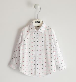 Camicia in popeline stretch per bambino ido BIANCO-MULTICOLOR-6NV3
