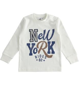 Girocollo stampa New York 100% cotone ido PANNA-0112