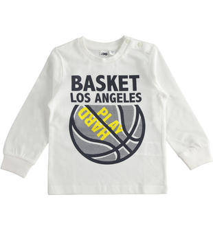 Maglietta girocollo tema basket ido PANNA-0112