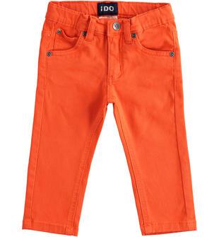 Versatile pantalone in twill ido ARANCIO-2213