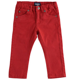 Versatile pantalone in twill ido ROSSO-2536
